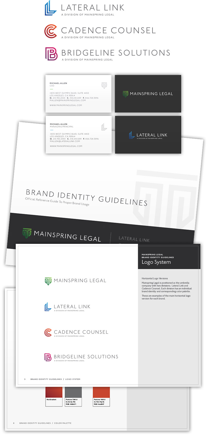 Mainspring Legal - Brand Strategy & Development, Brand Guidelines, Website Design & Development, Marketing, Creative Direction